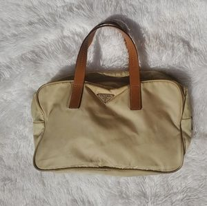 Prada beige Nylon & Leather small tote bag